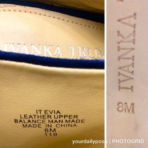 2f0c265773f40 Ivanka Trump Shoes - NWOT Ivanka Trump navy suede open toe Evia mules